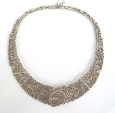 Exquisite Vintage 900 Silver Articulated Necklace from Link2Jewels Exclusively on Ruby Lane