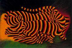 """Victor Vasarely - """"Tigres"""" (Tigers), 1938"""