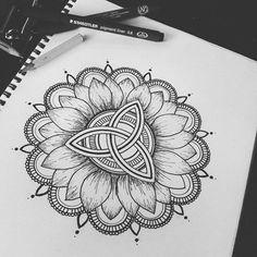Tattoo Stencils, Compass Tattoo, Mandala, Doodles, Tattoos, Journal, Art, Art Background, Tatuajes