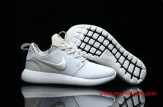 detailing ef6a0 414c2 WMNS 2017 NikeLab Roshe Two Leather PRM White Silver Shoes