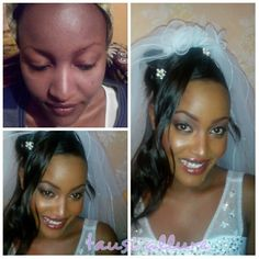 Before and after bridal make up