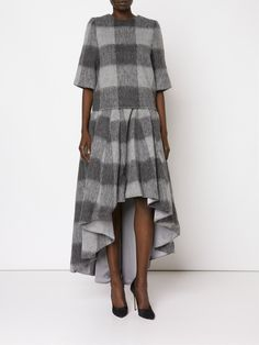 Dominic Louis plaid high-low skirt
