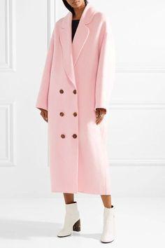Shop Mansur Gavriel SS18: Oversized Pink Wool Felt Coat