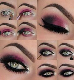 Image via How to Apply Smokey Eyeshadow Step by Step Image via See make-up ideas Step by Step. Make-up in purple and blue tones. Image via Make-up lessons for beginners as beautif Best Makeup Tutorials, Best Makeup Products, Makeup Tips, Beauty Makeup, Makeup Ideas, Beauty Products, Makeup Designs, Makeup Trends, Makeup Hacks
