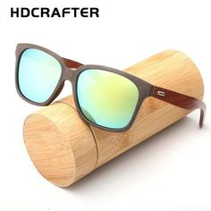 6240ff76c 2018 Polarized Bamboo Sunglasses Men Wooden Sun glasses Women Brand  Designer Wood Glasses Oculoz de sol