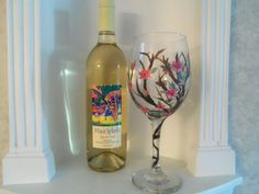 Hand Painted Wine Glass, Wine Glass, For the Bride, Gift for Her, Wine Glasses, Customized Wine Glass,Home & Living, Housewares,Mother's Day - pinned by pin4etsy.com
