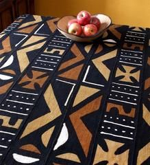 Hand-Dyed African Mudcloth Blanket - Home Decor Handmade in Africa - Swahili Modern - 6