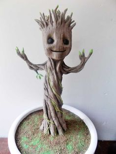 Baby Groot Cake, Groot Toy, Biscuit, Cake Designs For Kids, Wood Yard Art, Felt Pictures, All Things Cute, Polymer Clay Creations, Air Dry Clay