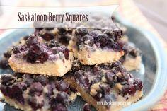 blueberry squares Saskatoon Recipes, Blueberry Squares, Dietitian, Sugar Free, Salmon, Sweet Treats, Berries, Food Porn, Pudding