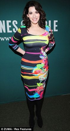 Nigella Lawson shows off her assets in eclectic skin-tight dress at US book launch Nigella Lawson Age, Barnes And Noble Books, Celebs, Celebrities, Skin Tight, Look Cool, Tight Dresses, Sexy Dresses, Striped Dress