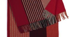 Røros Tweed Var 100% Norwegian Wool Fringe Blanket
