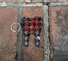 Personalized Tooth Keychain  Dental Assistant  Dental by SteviLus