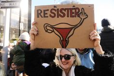 """""""Resister,"""" the Women's March, January 20, 2018.  Photo credit: The Huffington Post / Getty — in New York, New York."""