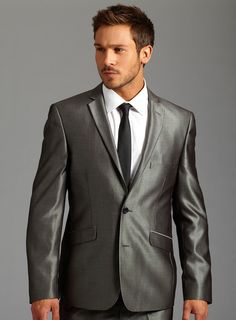 Love the metallic sheen to this slate gray suit!   Men's Fashion ...