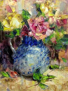 Art Talk - Julie Ford Oliver: Roses and Cezanne's Outlines.