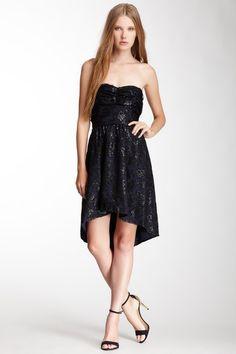 Strapless Hi-Lo Dress