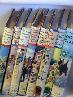 :) they held meetings in a shed, one needed a password to get in.. and sometimes wore badges... awwww  Original Enid Blyton Secret Seven books