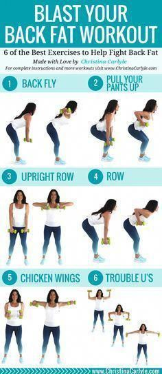The Best Fat Burning Back Exercises with Dumbbells for Women - Dumbbell - Ideas of Dumbbell - This back workout will help you burn back fat. Do all 6 of these of these fat burning back exercises for a complete workout thats perfect for women. Back Workout Women, Back Fat Workout, Tummy Workout, Abdominal Workout, Abdominal Exercises, Workout Diet, Best Fat Burning Workout, Workout Drinks, Workout Girls