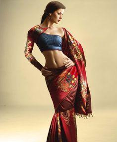 Koora pudavai/ Wedding Saree with Kalamkari work :)