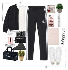 """School"" by elma02 on Polyvore featuring Alexander McQueen, Kate Spade, Casetify, Sephora Collection, adidas Originals, Finders Keepers, Monki, Hamam, NIKE and Nearly Natural"