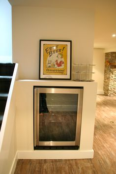 Why not add a cozy fireplace into your basement? Looks nice and keeps you warm!  #basements