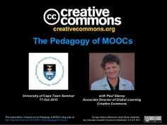 Pedagogy of MOOCs by Paul_Stacey via slideshare
