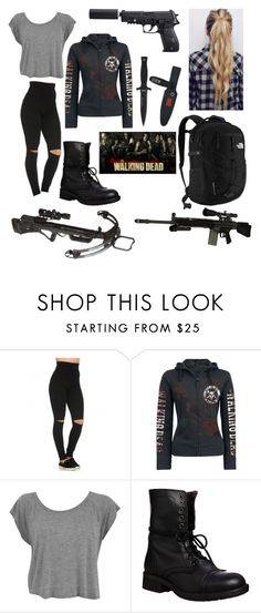 """""""THE WALKING DEAD 💀"""" by gimevelazquez on Polyvore featuring Steve Madden, The North Face and RIFLE"""