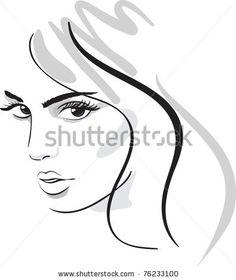 beauty girl face. design elements. Vector Illustration by De-V, via ShutterStock