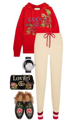 """GUCCI"" by beakpettersen ❤ liked on Polyvore featuring Gucci, Madeleine Thompson and Chanel"