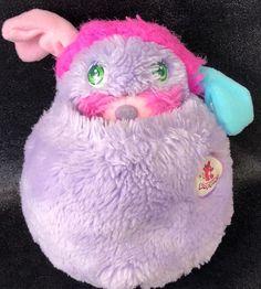 Popples Pretty Bit Stuffed Plush Toy Doll 1986 Vintage Mattel 8 Inch Purple Rare  | eBay