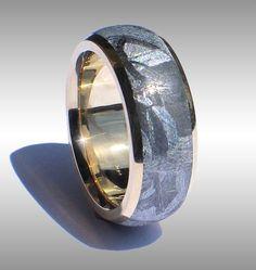 Seamless Meteorite RIng