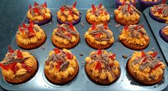 Fire Cupcakes, Homemade Cakes, How To Make Cake, Muffin, Breakfast, Desserts, Food, Homemade Muffins, Muffins