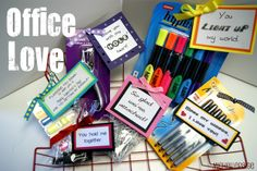 michelle paige: Office Supply Valentines
