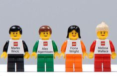 Lego people business cards