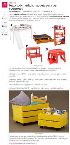 O portal M de Mulher publicou sugestões da MMM para o Dia das Crianças! Veja aqui: http://mdemulher.abril.com.br/blogs/decoracao-do-seu-jeito/decoracao/feito-sob-medida-moveis-para-os-pequenos/