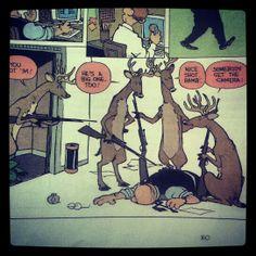 Calvin and Hobbes hunting humor.