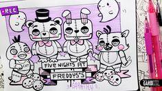 Kawaii Five Nights at Freddy's - Hello Doodles - Easy and Kawaii Drawing...