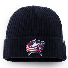 size 40 44d3a b2ea9 Men s Columbus Blue Jackets Fanatics Branded Navy Cuffed Knit Hat, Your  Price   17.99
