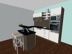 kuchynska linka s ostrovcekom#kuchyna #nabytokbetak #nabytok #kuchynasnov #kuchynanamieru #3d #vizualizacia #interierovydizajn