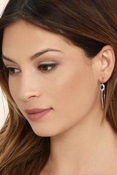 Lovely Silver Earrings - Hoop Earrings - Knot Earrings - $11.00
