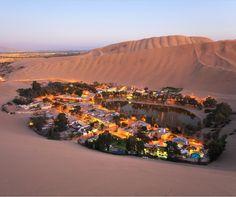 Atacama desert, Oasis of Huacachina, Peru.