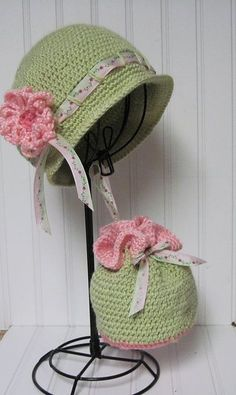 Crochet Colorful Spring Hats for Kids Tutorial.