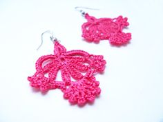 crochet earring patterns | PDF Tutorial Crochet PatternLace Dangle by accessoriesbynez -- Do I want to buy this pattern?  it's so pretty but I do have enough free patterns.  I'll keep it in the back of my mind.