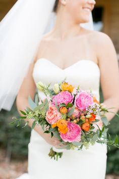 Bright and beautiful bouquet: http://www.stylemepretty.com/2015/04/15/country-chic-florida-farm-wedding/ | Photography: Amalie Orrange Photography - amalieorrangephotography.com