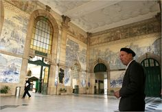 Photo: Michael Barrientos for The New York Times. | Not to be missed is the vestibule of the São Bento train station, a monument to the Portuguese love affair with painted tiles (there are 20,000 of them there). #Porto #Portugal