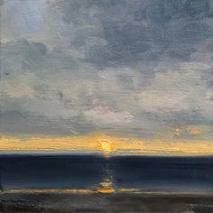 Solitary Sunset Oil On Canvas, Paintings, Sunset, Art, Art Background, Paint, Painting Art, Kunst, Sunsets
