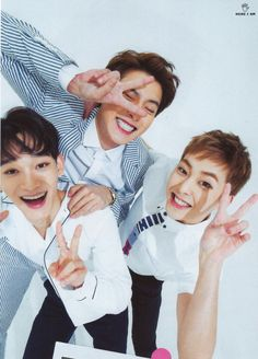 Chanyeol, Chen, Xiumin - 160222 Ray magazine, April 2016 issue - [SCAN][HQ] Credit: Here I Am. (レイ2016年4月号)