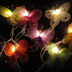 20 Butterfly Bug Multi Colour Fairy Lights String 3.5M. $15.97, via Etsy.