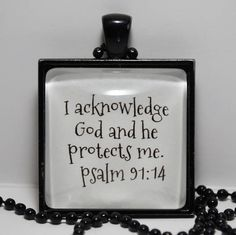 Psalm 91:14 Scripture Pendant Necklace God's Protection Christian Jewelry Sobriety Recovery AA NA CL Murphy Creative CLMurphyCreative