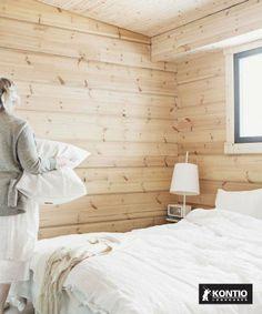 Maison bois Kontio Decoration, Cottage, Bed, Summer, Home, Beds, Wooden Panelling, Decor, Summer Time